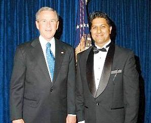 Rahul Manchanda and President George Bush