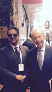 RAHUL MANCHANDA AND SENATOR JOE LIEBERMAN