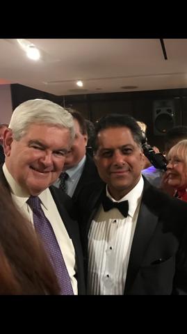 Rahul Manchanda and Newt Gingrich